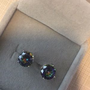 New Array of colors Mystic Topaz studs Earrings